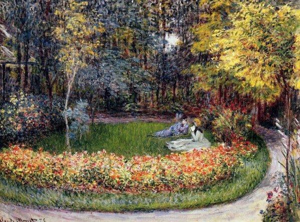 1875 au jardin la famille de l 39 artiste de for Artistes de jardin
