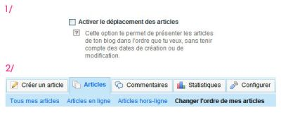 BLOG : D�place tes articles !